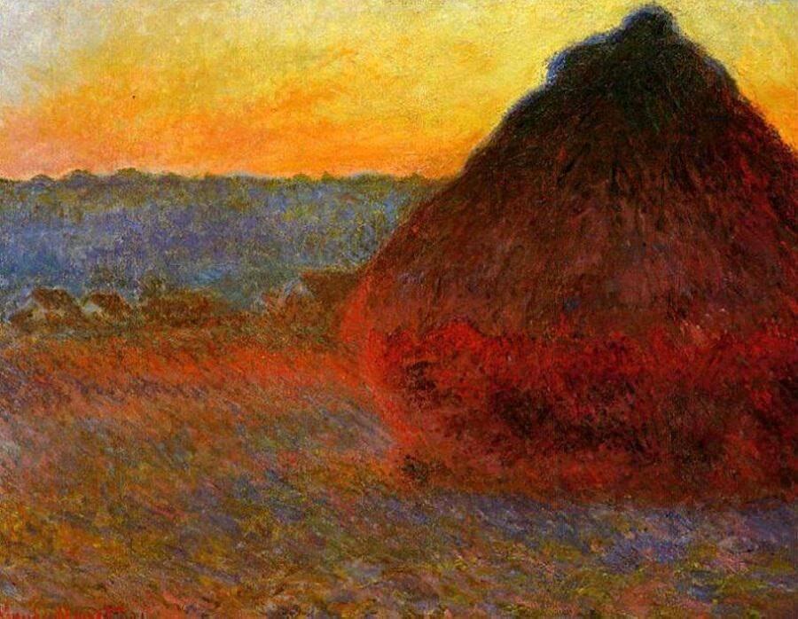 Claude Monet - Les Meules à Giverny